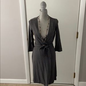 Diane Von Furstenberg grey wrap dress